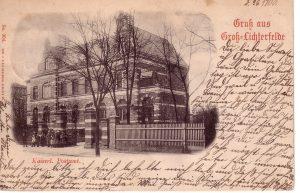 Morgensternstraße altes Postamt um1900 (c) Archiv Wolfgang Holtz