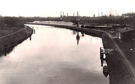 Blick von der Sieversbrücke auf den Hafen Lankwitz ca. 1938, Archiv Wolfgang Friese
