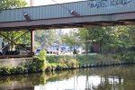 Hafen Steglitz mit Rohrbrücke