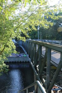 ehemalige Leinpfadbrücke, jetzt Brücke über den Teltowkanal am Edenkobener Weg, ©Jutta Goedicke