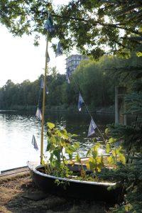 malerische Landspitze am Hafen Steglitz