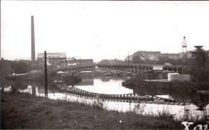 Hafen Steglitz ca. 1932 mit Treidelbrücke, Archiv Wolfgang Holtz