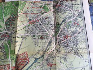 Karte von Groß-Lichterfelde ca. 1915