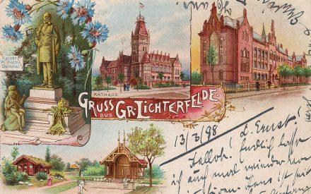 Rathaus Lichterfelde Schmuckkarte Rathaus Lichterfelde Schmuckkarte 1889