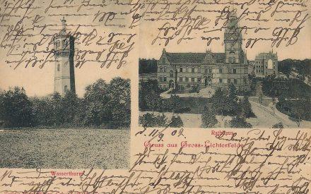 Rathaus Lichterfelde Wasserturm 1902