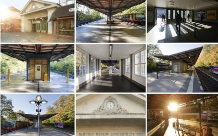 Postkarte Bahnhof Lichterfelde Ost, ©Philipp Bernstorf