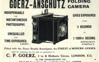 Goerz-Anschütz folding Camera-Anzeige 1905-©Sammlung Umstätter