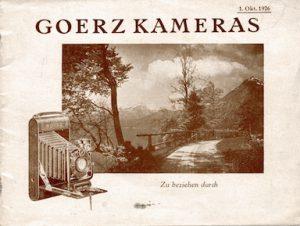 Goerz Kameras Broschüre 1926-©Sammlung Umstätter