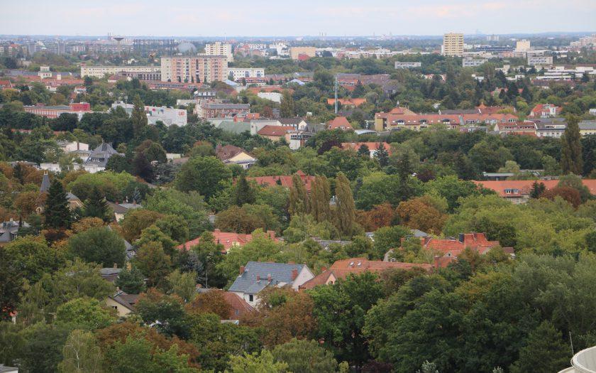 Blick vom Heizkraftwerk auf Lichterfelde und Lankwitz©Jutta Goedicke