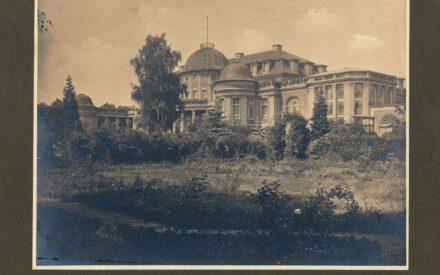 Siemens_Corrensvilla Bild Gartenfassade mit Wintergarten ca. 1920